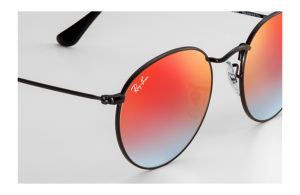 Солнцезащитные очки Ray-Ban Round Metal Flash Lenses RB3447 002/4W