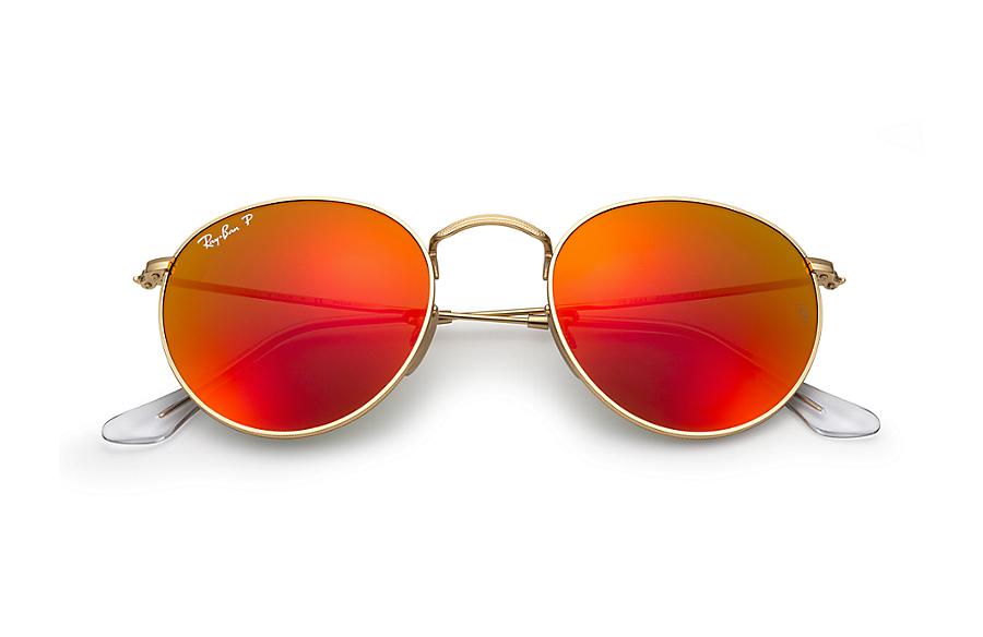Солнцезащитные очки Ray-Ban Round Metal Flash Lenses RB3447 112 4D ... d25b362c338d0